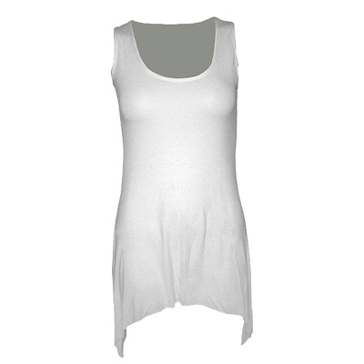 Goth bottom vest viscose white - Spir